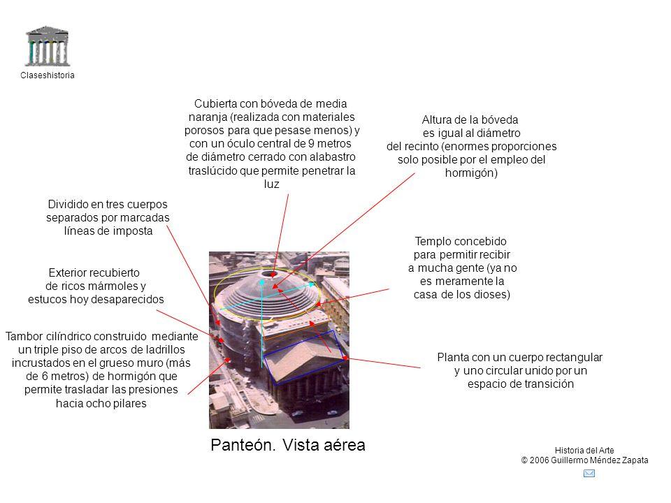 Panteón. Vista aérea Cubierta con bóveda de media