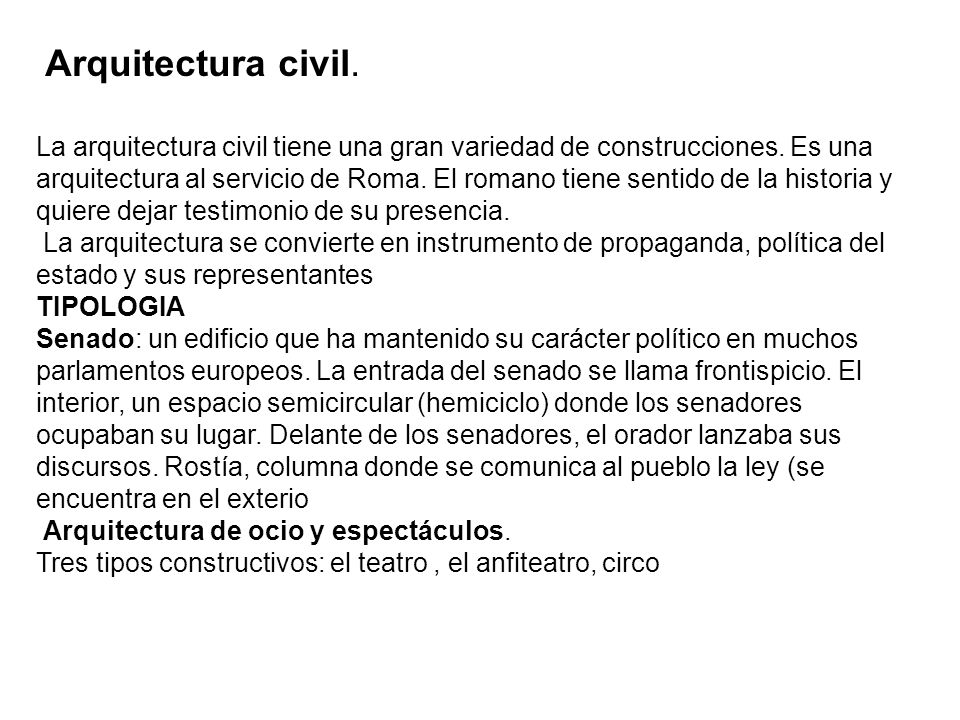 Arquitectura civil.