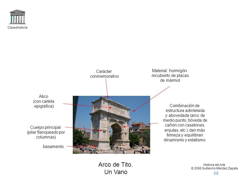 Arco de Tito. Un Vano Carácter Material: hormigón conmemorativo