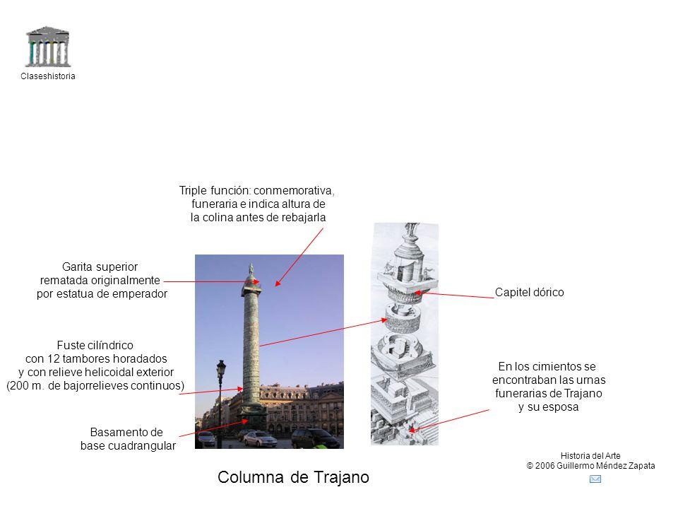 Columna de Trajano Triple función: conmemorativa,
