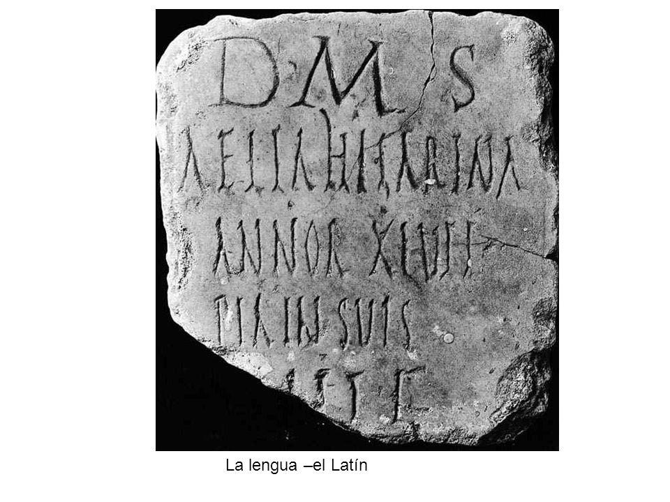 La lengua –el Latín