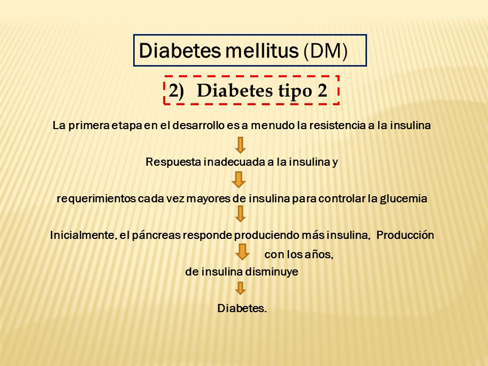 requerimientos cada vez mayores de insulina para controlar la glucemia