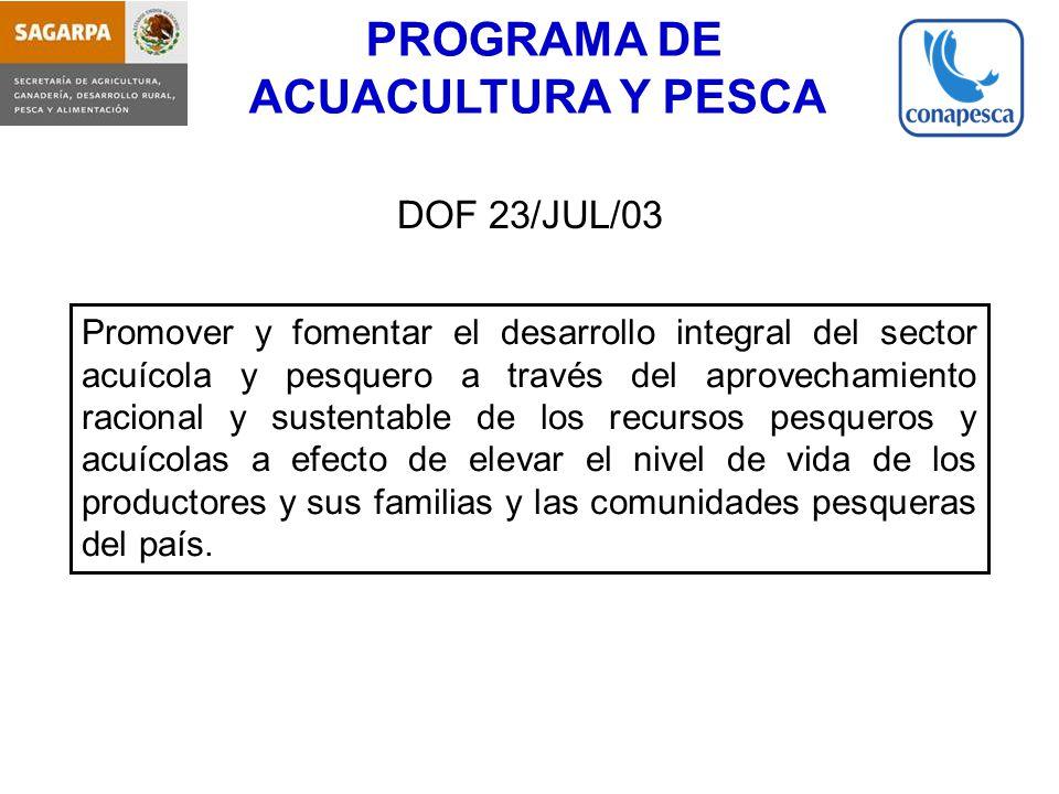 PROGRAMA DE ACUACULTURA Y PESCA