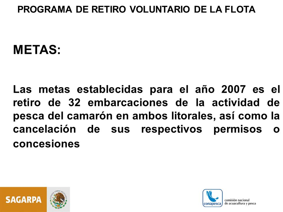 PROGRAMA DE RETIRO VOLUNTARIO DE LA FLOTA