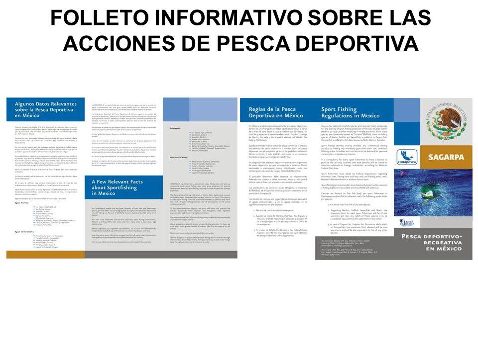 FOLLETO INFORMATIVO SOBRE LAS ACCIONES DE PESCA DEPORTIVA