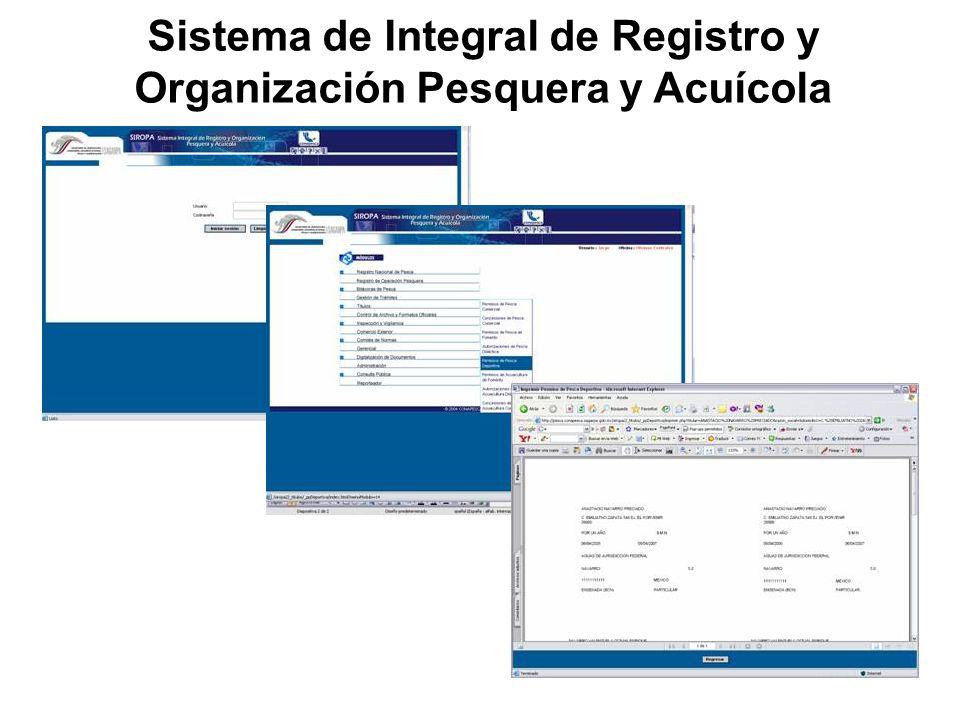 Sistema de Integral de Registro y Organización Pesquera y Acuícola