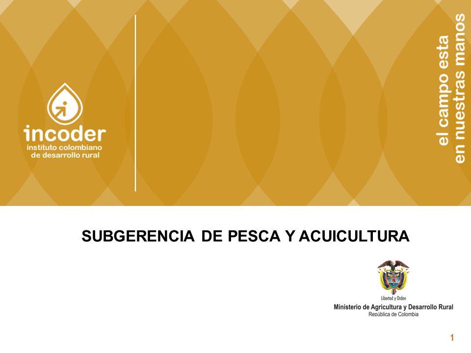 SUBGERENCIA DE PESCA Y ACUICULTURA