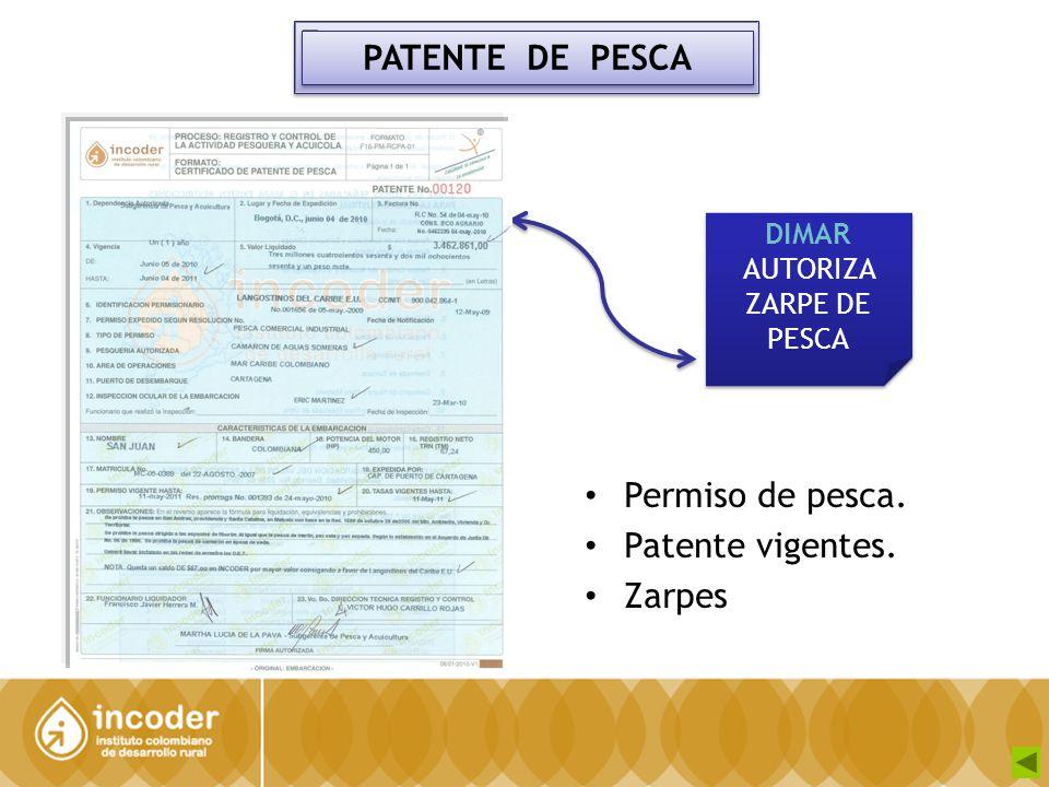 DIMAR AUTORIZA ZARPE DE PESCA