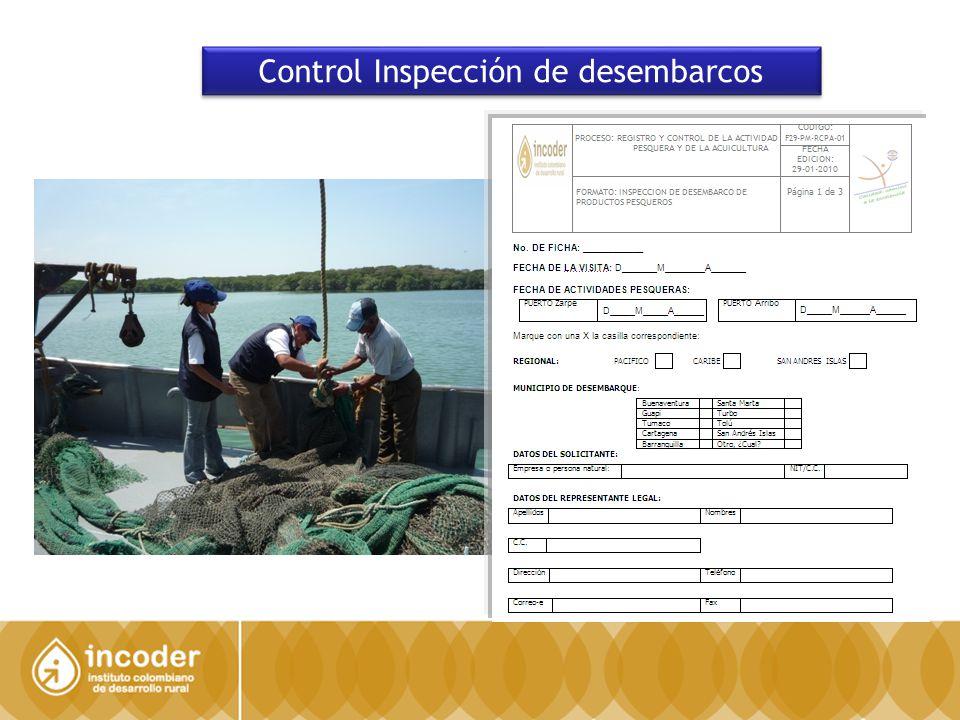 Control Inspección de desembarcos