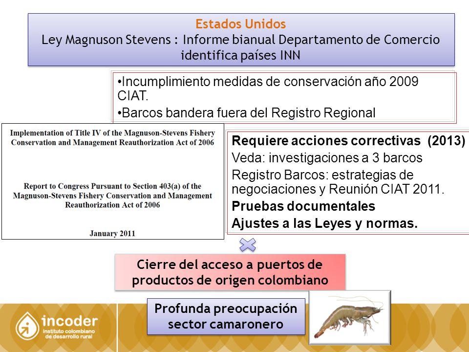 Incumplimiento medidas de conservación año 2009 CIAT.
