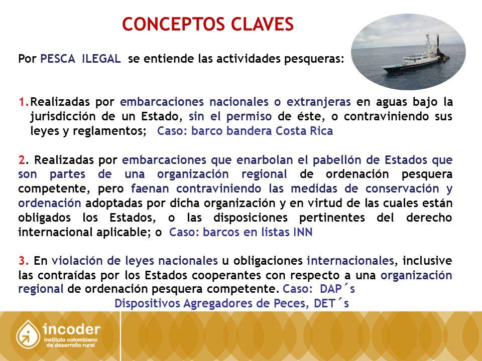 CONCEPTOS CLAVES Por PESCA ILEGAL se entiende las actividades pesqueras: