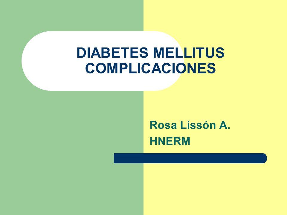 DIABETES MELLITUS COMPLICACIONES