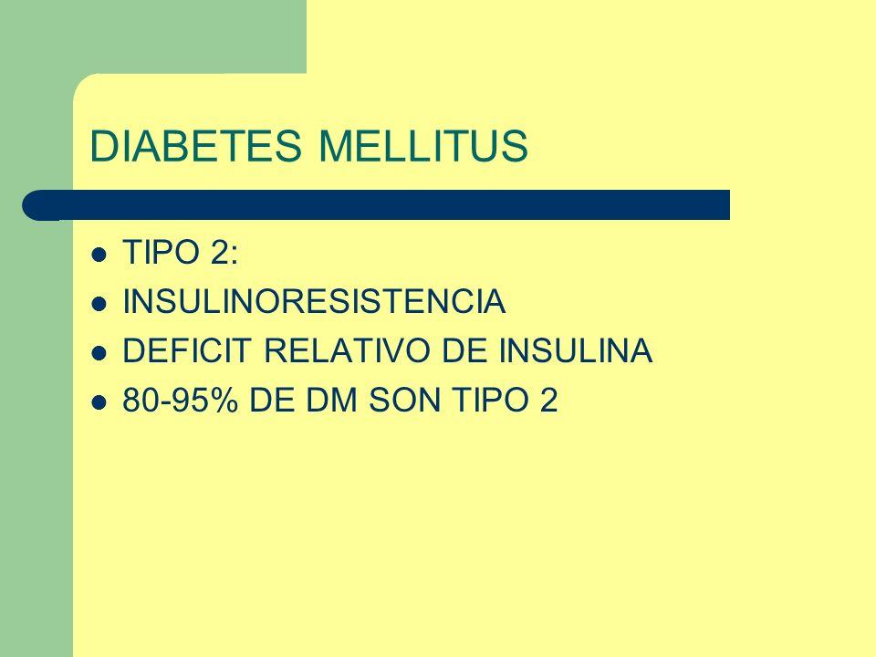 DIABETES MELLITUS TIPO 2: INSULINORESISTENCIA