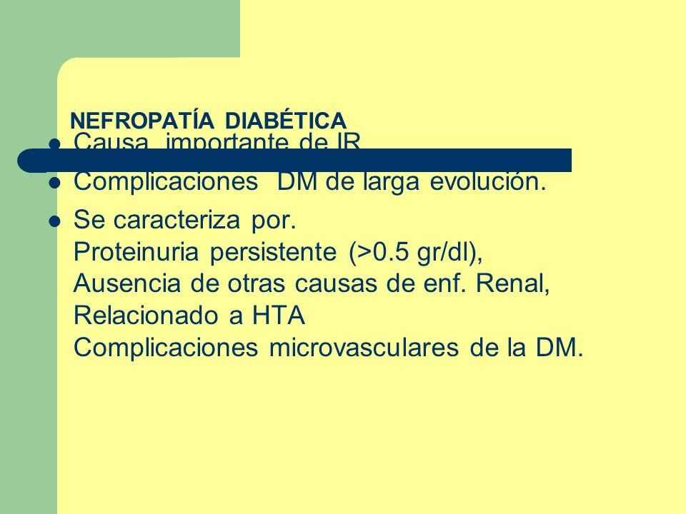 Complicaciones DM de larga evolución.