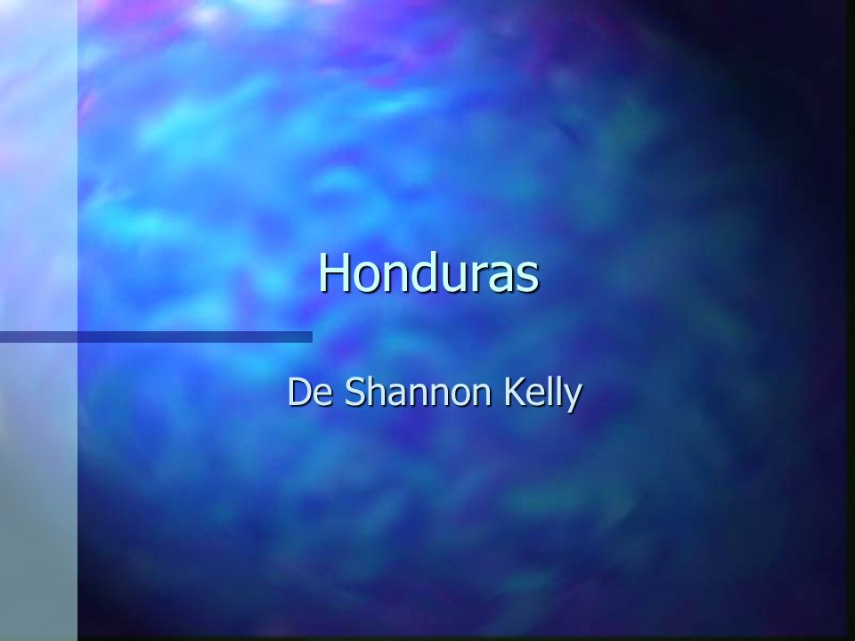 Honduras De Shannon Kelly