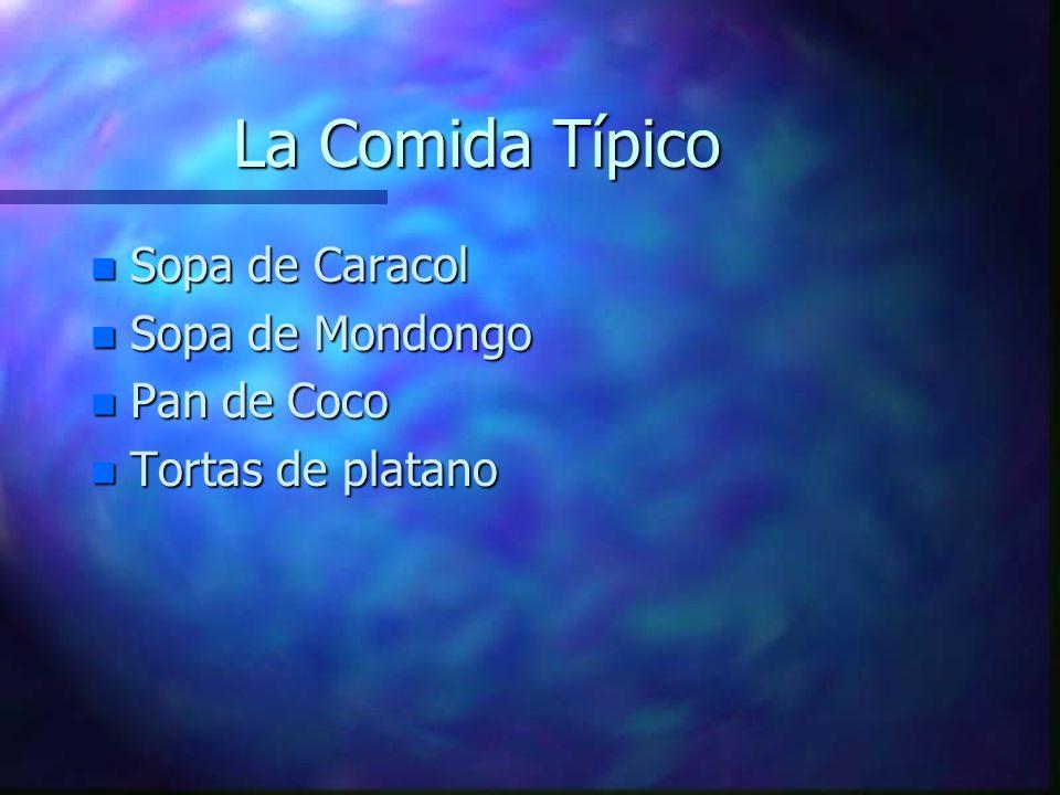 La Comida Típico Sopa de Caracol Sopa de Mondongo Pan de Coco