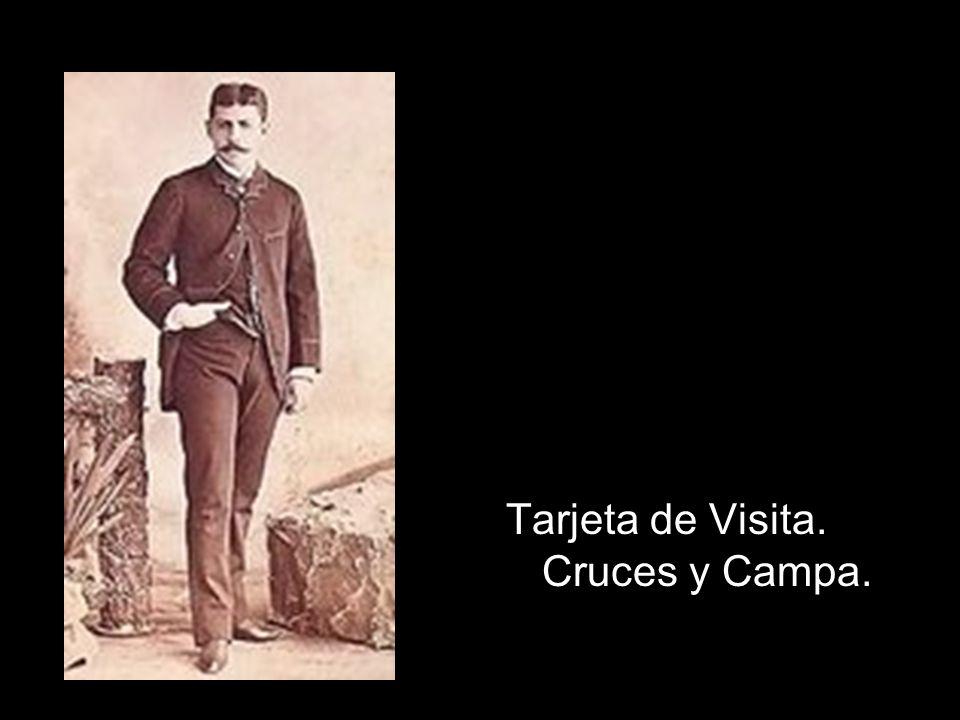 Tarjeta de Visita. Cruces y Campa.
