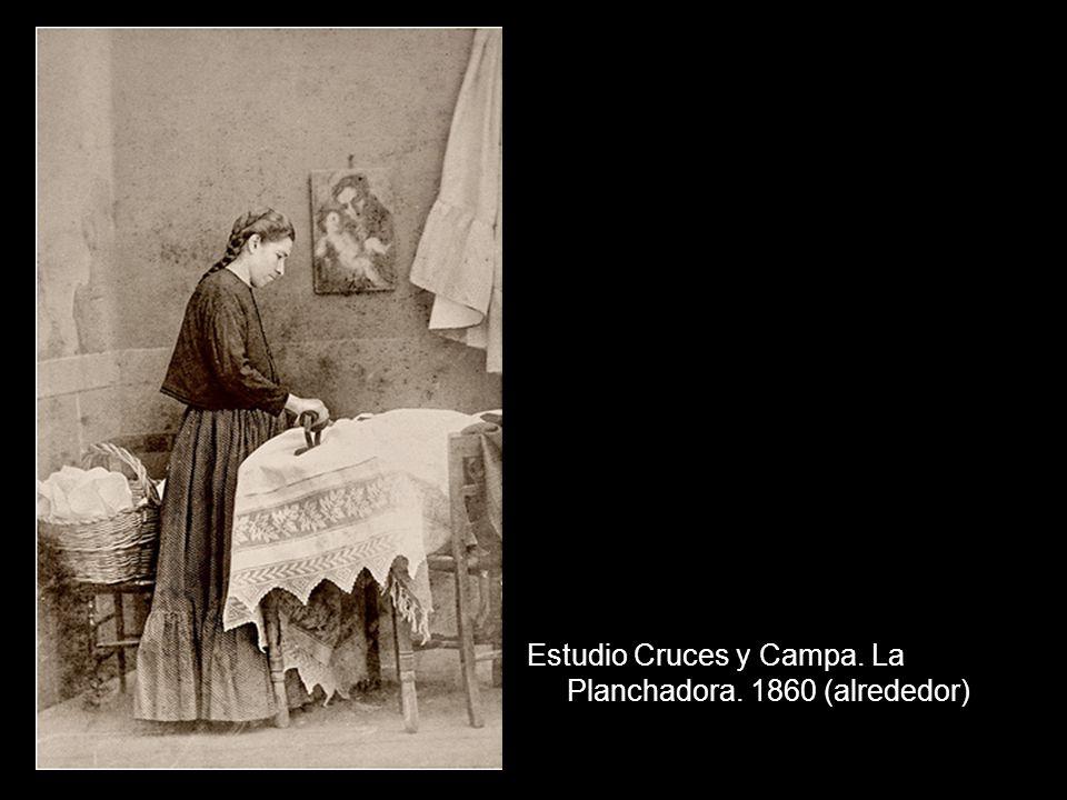 Estudio Cruces y Campa. La Planchadora. 1860 (alrededor)