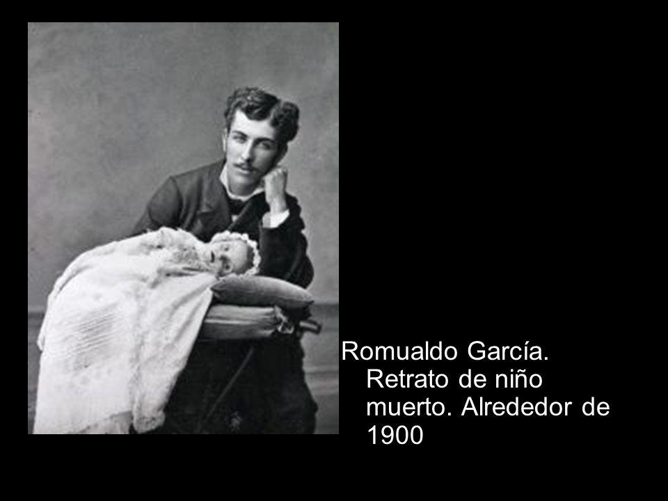 Romualdo García. Retrato de niño muerto. Alrededor de 1900