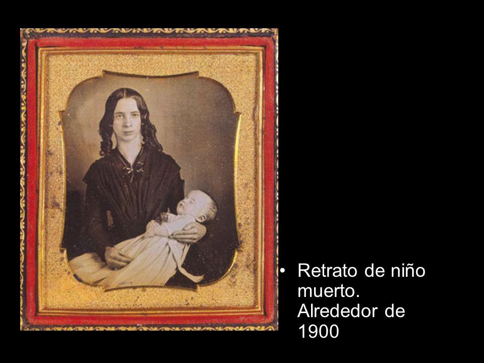 Retrato de niño muerto. Alrededor de 1900