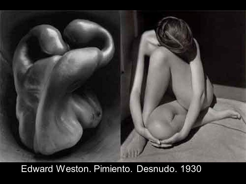 Edward Weston. Pimiento. Desnudo. 1930