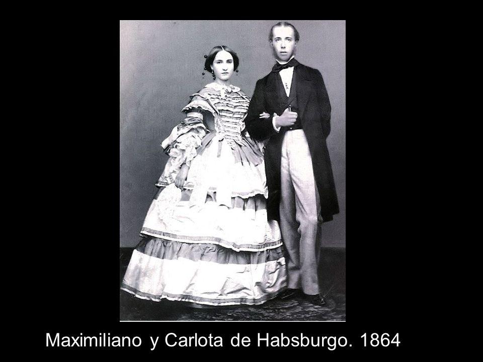 Maximiliano y Carlota de Habsburgo. 1864