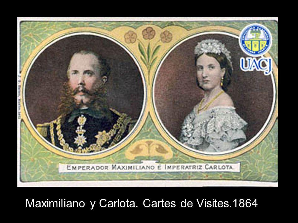 Maximiliano y Carlota. Cartes de Visites.1864