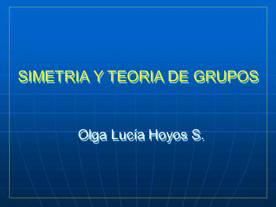 SIMETRIA Y TEORIA DE GRUPOS