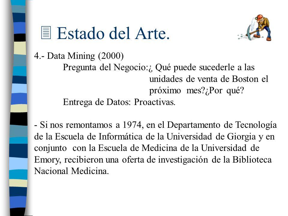 Estado del Arte. 4.- Data Mining (2000)