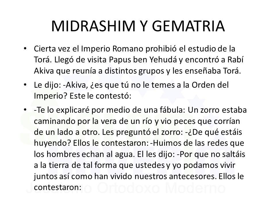 MIDRASHIM Y GEMATRIA