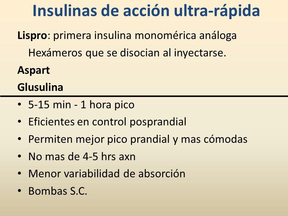 Insulinas de acción ultra-rápida