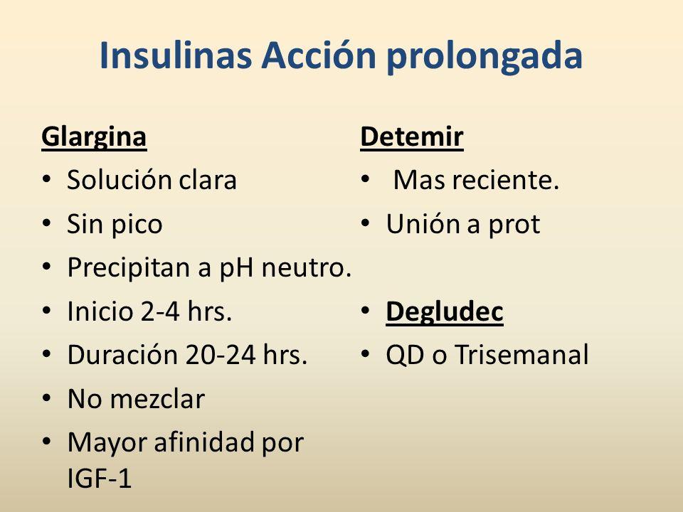 Insulinas Acción prolongada