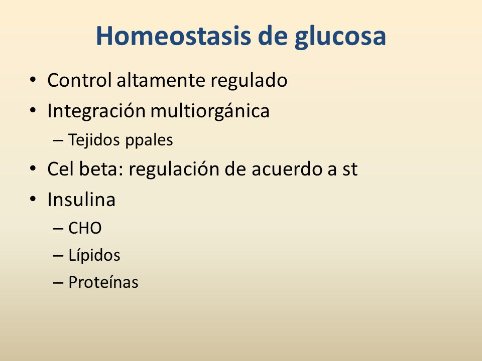 Homeostasis de glucosa