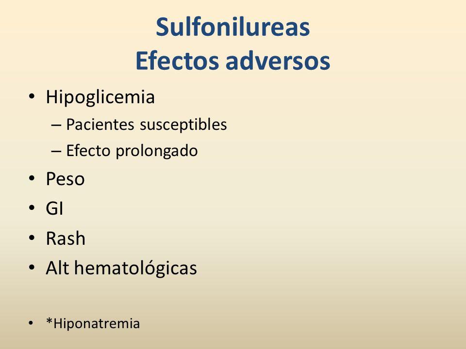 Sulfonilureas Efectos adversos
