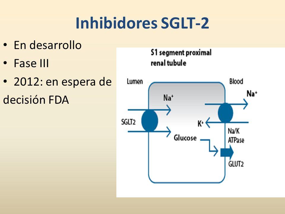 Inhibidores SGLT-2 En desarrollo Fase III 2012: en espera de