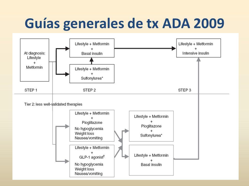 Guías generales de tx ADA 2009