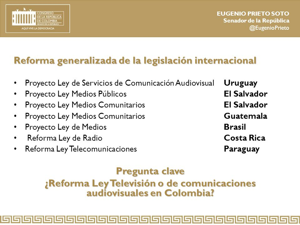 ¿Reforma Ley Televisión o de comunicaciones audiovisuales en Colombia