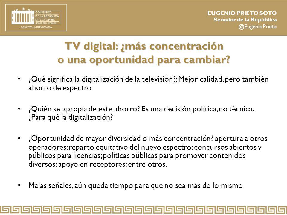 TV digital: ¿más concentración o una oportunidad para cambiar