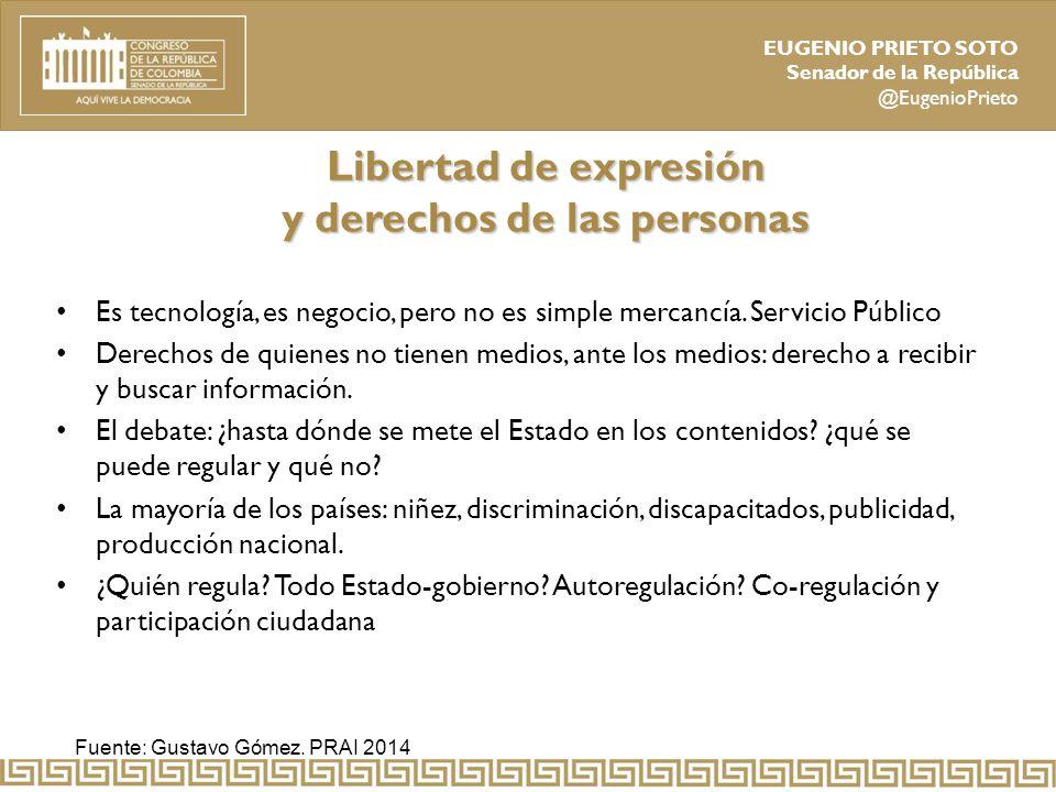 Libertad de expresión y derechos de las personas
