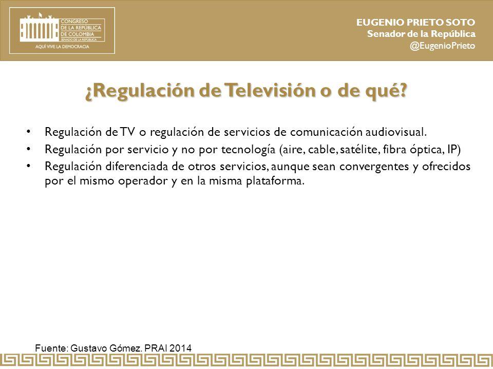 ¿Regulación de Televisión o de qué