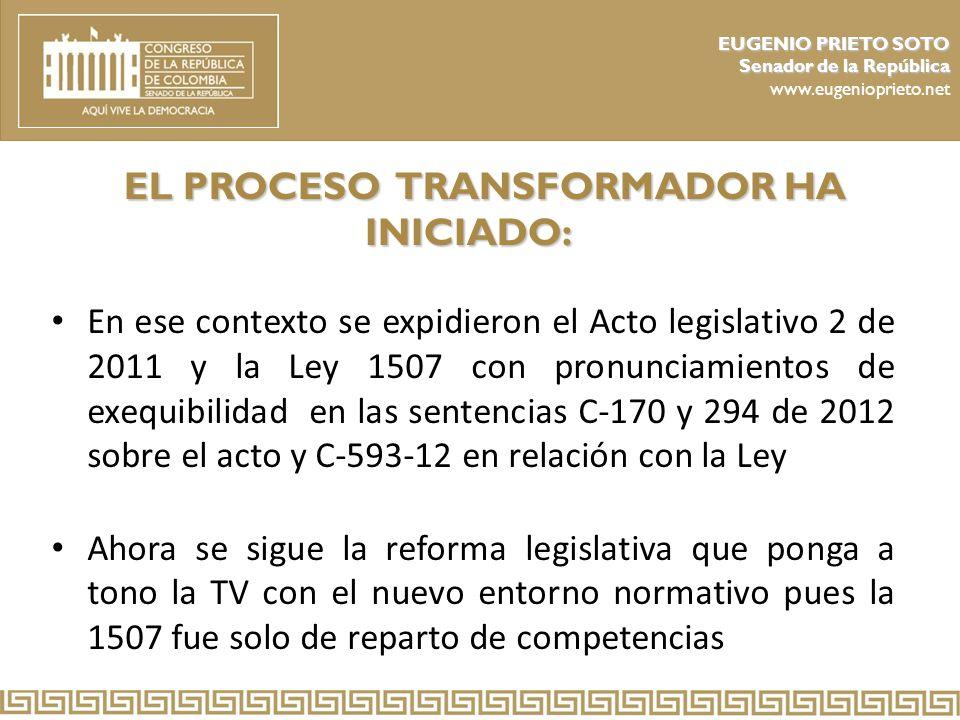 EL PROCESO TRANSFORMADOR HA INICIADO: