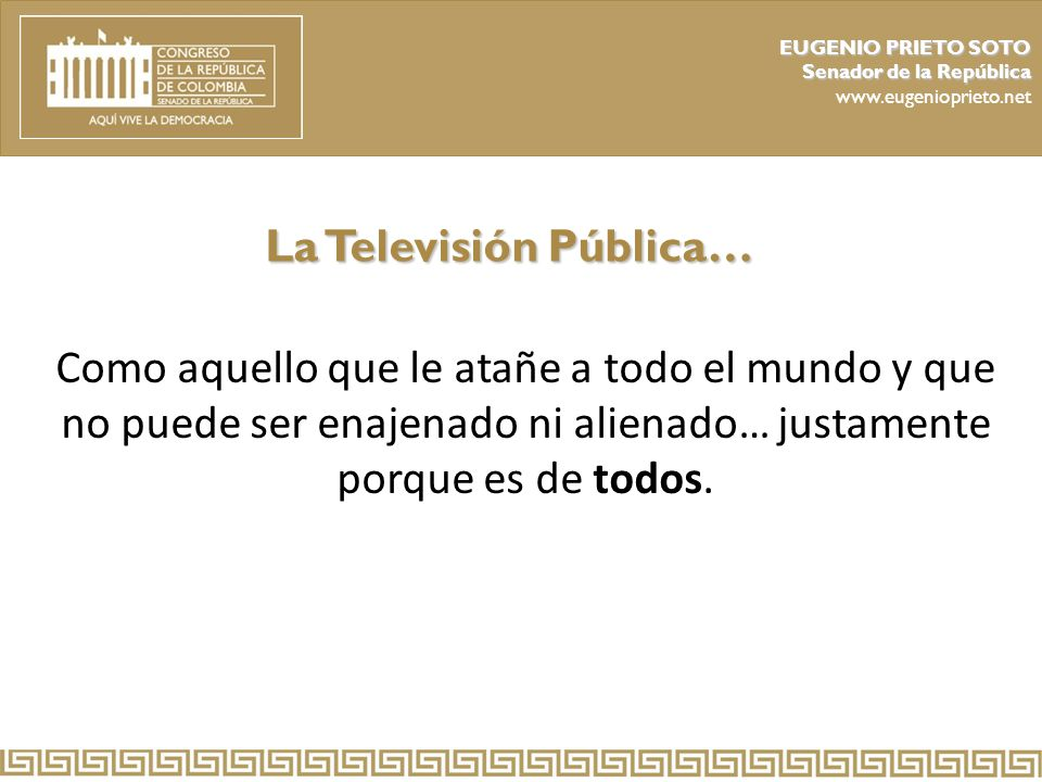 La Televisión Pública…