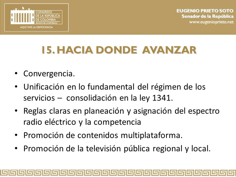 15. HACIA DONDE AVANZAR Convergencia.