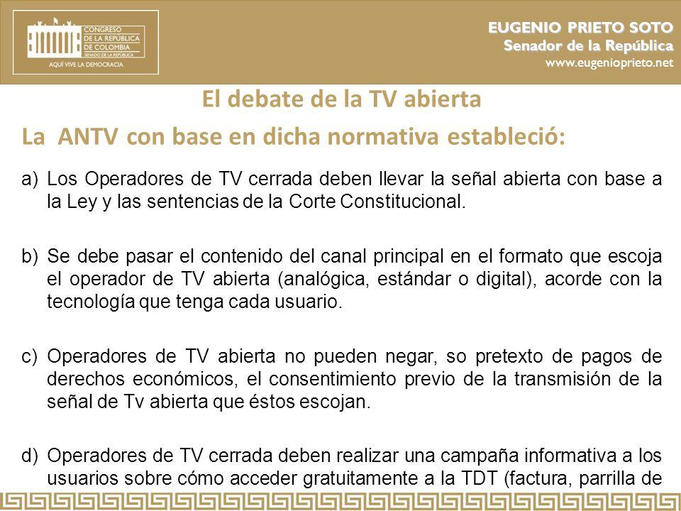 El debate de la TV abierta