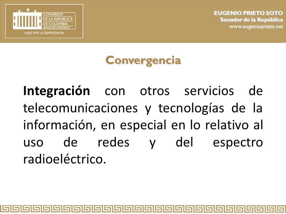 EUGENIO PRIETO SOTO Senador de la República. www.eugenioprieto.net. Convergencia.
