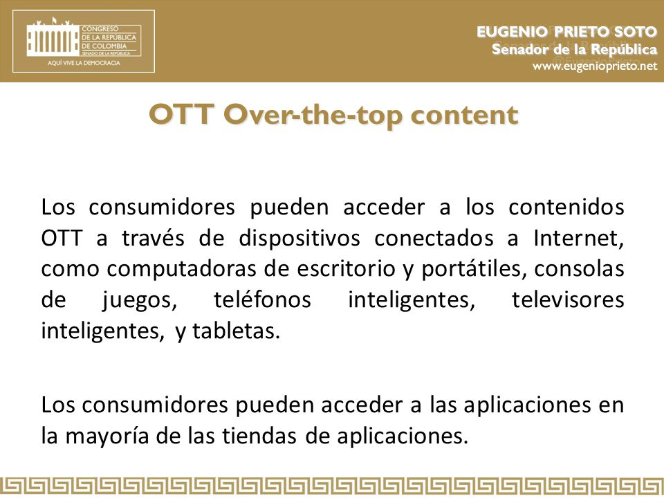 OTT Over-the-top content