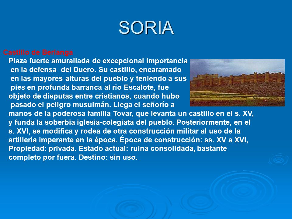 SORIA Castillo de Berlanga
