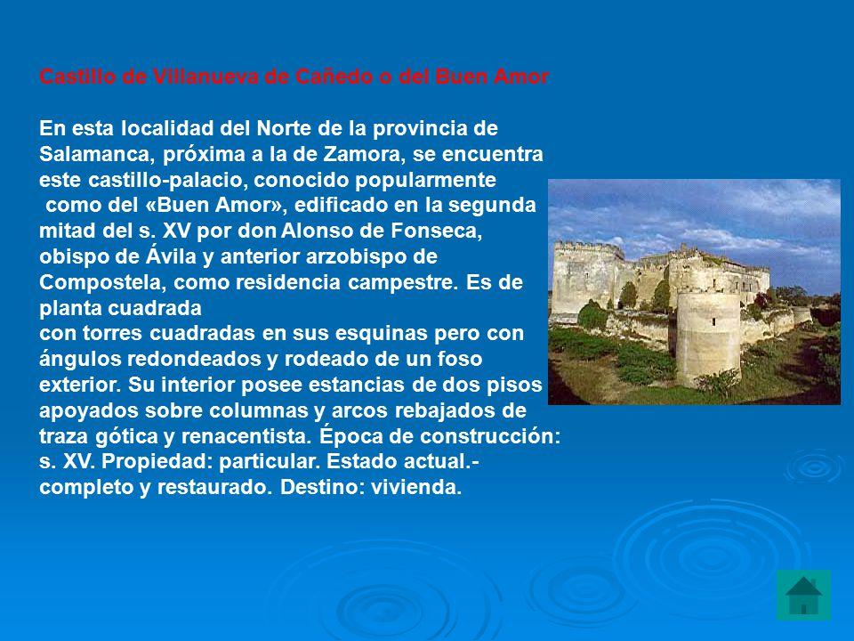 Castillo de Villanueva de Cañedo o del Buen Amor