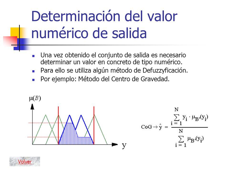 Determinación del valor numérico de salida