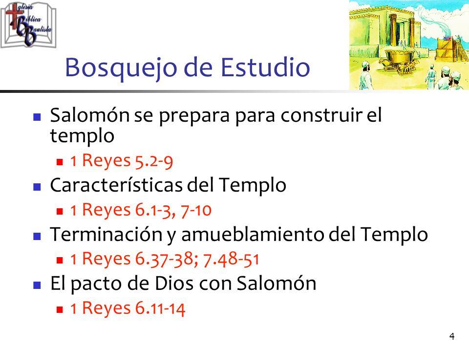 Bosquejo de Estudio Salomón se prepara para construir el templo